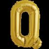 "34"" Letter Q Gold Foil Balloon overview"