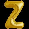 "34"" Letter Z Gold Foil Balloon overview"