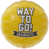 "18"" Way To Go Grad Yellow Foil Balloon product link"