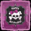 "18"" Happy Birthday Girly Skull product link"