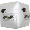 "17"" Change the World Grad Cube Foil Balloon product link"