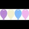 100 Single Balloon Shape Weights Pastel Mix