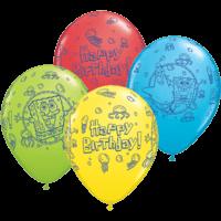 "25 x 11"" Birthday Spongebob Latex"
