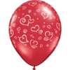 "11"" Red Swirl Hearts Latex Balloons x 50 overview"