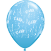 """11"""" Pale Blue It's a Boy-A-Round Latex Balloo product link"""