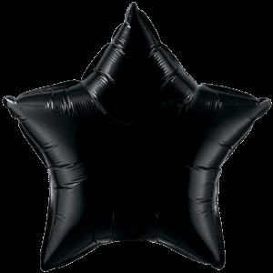"20"" Onyx Black foil Star Balloon"