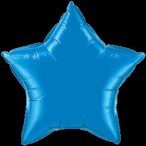 """20"""" Sapphire Blue foil Star Balloon"""