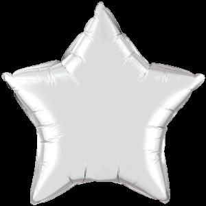 "20"" Silver foil Star Balloon"