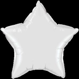 "20"" White foil Star Balloon"
