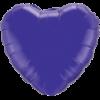"""18"""" Heart Quartz Purple Foil Balloon overview"""