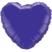"18"" Custom Printed Quartz Purple Heart Foil Balloons"