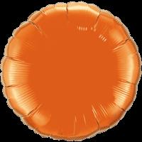 """18"""" Round Orange Foil Balloon"""