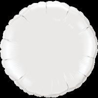 """18"""" Round White Foil Balloon"""