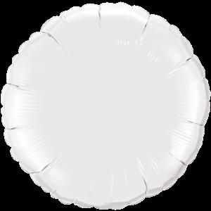 """18"""" White foil Round Balloon"""