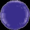 """18"""" Round Quartz Purple Foil Balloon overview"""