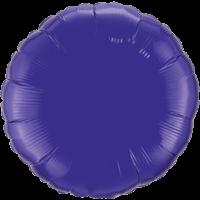 "18"" Round Quartz Purple Foil Balloon"