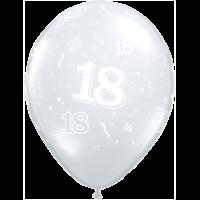 "11"" 18th Diamond Clear Latex x 50"