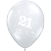 21st Birthday Latex Balloons overview