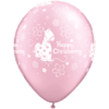 "11"" Pearl Pink Christening Pony Latex Balloon product link"