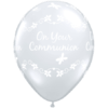 """11"""" Clear Communion Butterflies Latex Balloon product link"""