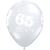 65th Birthday Latex Balloons overview