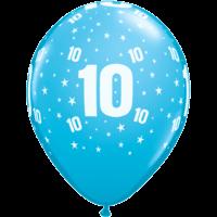 "11"" Stars #10 Tropical Assortment Latex x 50"