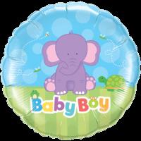 "18"" Baby Boy Elephant Balloon"