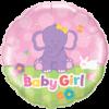 "18"" Baby Girl Elephant Balloon overview"