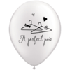 "11"" Pearl White  A Perfect Pair Latex Balloon product link"