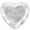 "18"" Just Married Hearts Silver Foil Balloon product link"