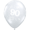 90th Birthday Latex Balloons overview