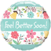 """18"""" Floral Get Well Soon Balloon overview"""