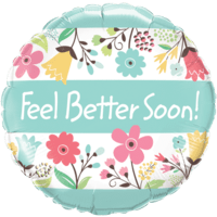 "18"" Floral Get Well Soon Balloon"