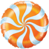"18"" Orange Candy Swirl Foil Balloon product link"