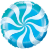 "18"" Blue Candy Swirl Foil Balloon product link"