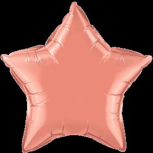 """20"""" Coral Plain Star Balloon"""
