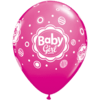 """11"""" Assorted Baby Girl Dotted Latex Balloons  product link"""