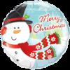 "18"" Merry Christmas Snowman Balloon overview"