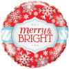 "18"" Merry and Bright Snowflakes Foil Balloon product link"