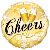 "18"" Gold Cheers Bubbly Foil"