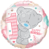 """18"""" Pink Tatty Teddy 1st Bday Balloon overview"""