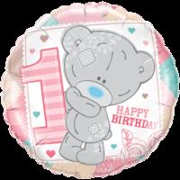"18"" Pink Tatty Teddy 1st Bday Balloon"