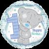 "18"" Tatty Teddy 1st Bday Balloon overview"