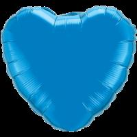 "18"" Heart Sapphire Blue Foil Balloon"