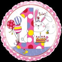 "18"" Pink 1st Bday - Rachel Ellen Balloon"