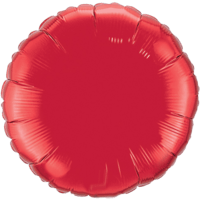"""18"""" Round Ruby Red Foil Balloon"""