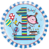 "18"" Blue 1st Bday- Rachel Ellen Balloon overview"