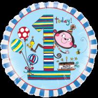 """18"""" Blue 1st Bday- Rachel Ellen Balloon"""