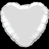 "18"" Heart Silver Foil Balloon"
