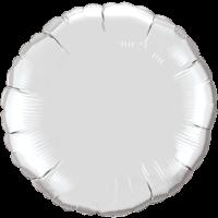 "18"" Round Silver Foil Balloon"
